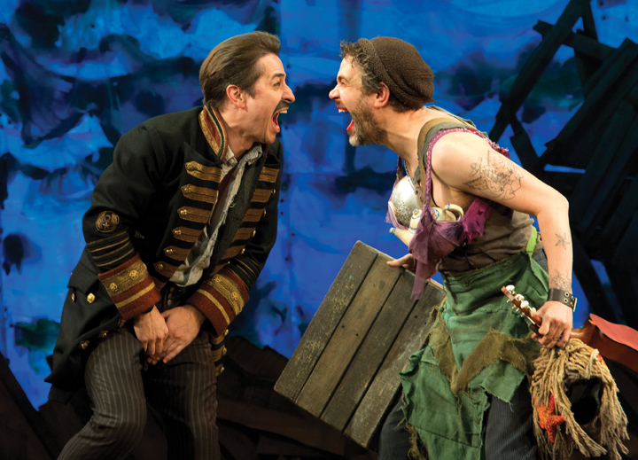 Black Stache and Smee in Peter and the Starcatcher