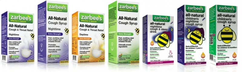 Zarbee's full line of cough medicines