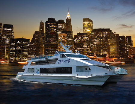 Zephyr yacht tour of NYC