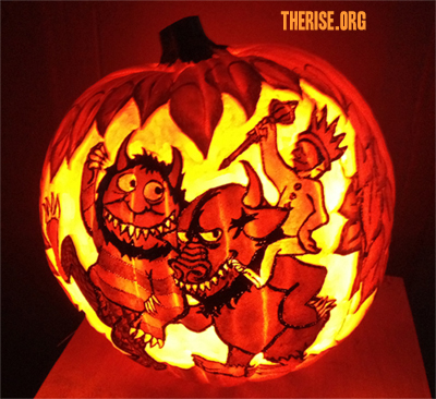 Where the Wild Things Are pumpkin