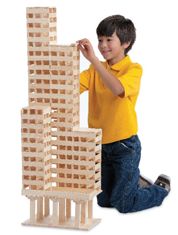 child constructing a building