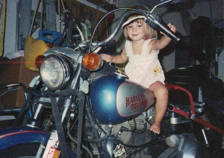 Katelin on Harley