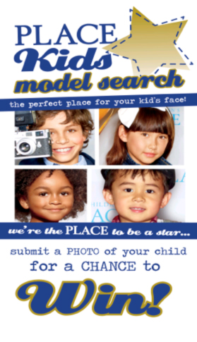 the children's place model search flyer