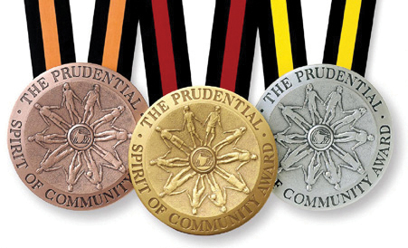 Prudential Spirit of Community Awards medals