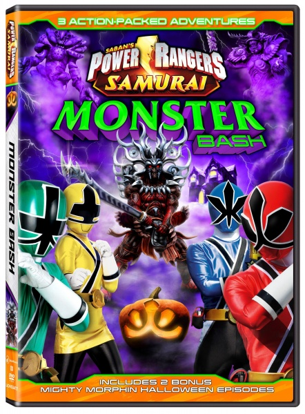 The Power Rangers Monster Bash DVD