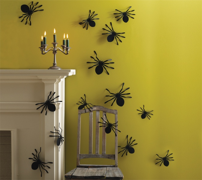 creepy spider wall silhouettes