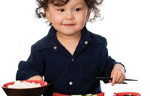 Kid Eating with Chopsticks