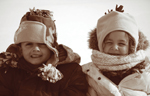 Kids Bundled Up
