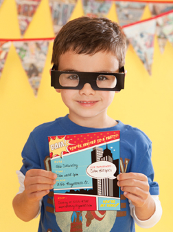 Superhero Printable Invitations; Courtesy One Charming Party