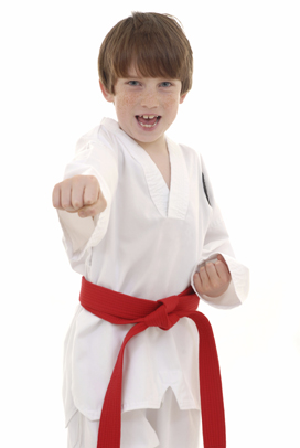 Boy in Karate Gear
