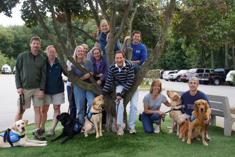 Guiding Eyes for the Blind dogs help families with kids with autism
