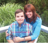 Author Lyn Fontinell and Son