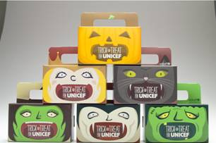 Fun and Funky UNICEF Trick-Or-Treat Boxes for a Cause
