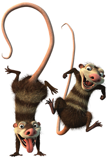 Crash and Eddie from Ice Age