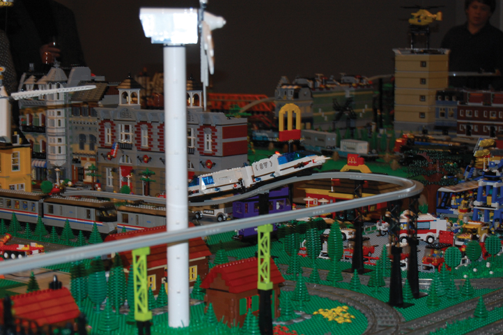 All Aboard with Bill Probert LEGO train exhibit