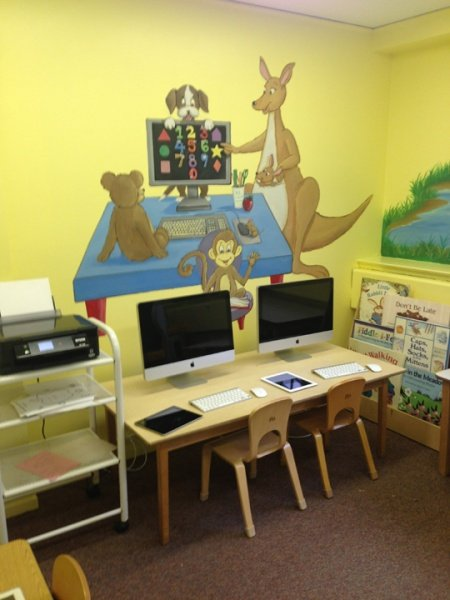 Growing Tree Nursery School's updated computer center