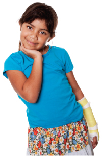 Girl with Arm Cast