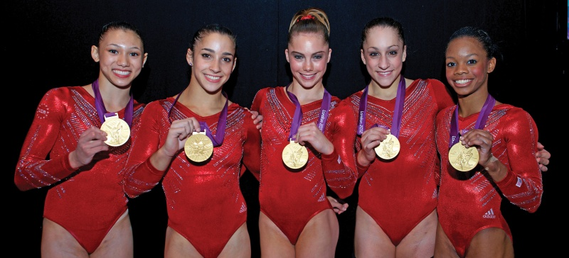 US Women's 2012 Olympic gymnastics team