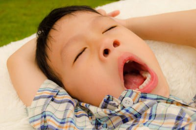 sleeping asian boy