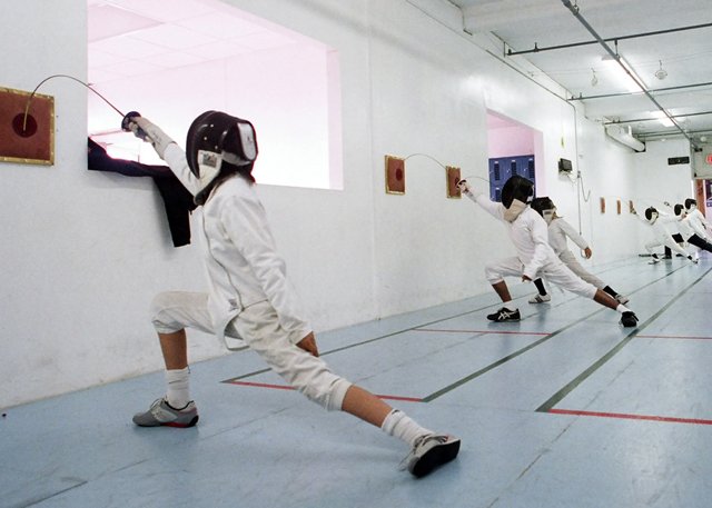 Children who fence have great focus
