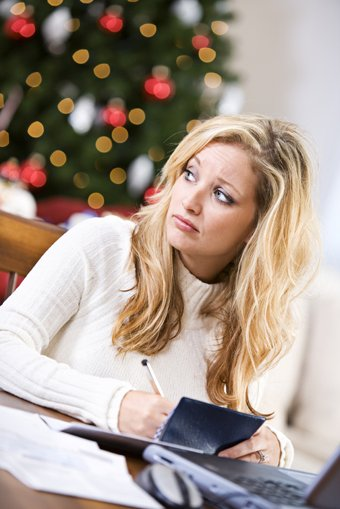 woman stressed about the holidays