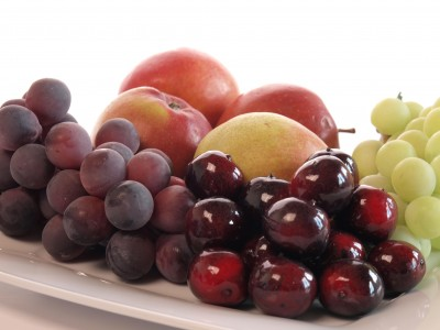 apples and grapes