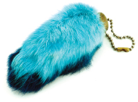 lucky rabbit foot key chain