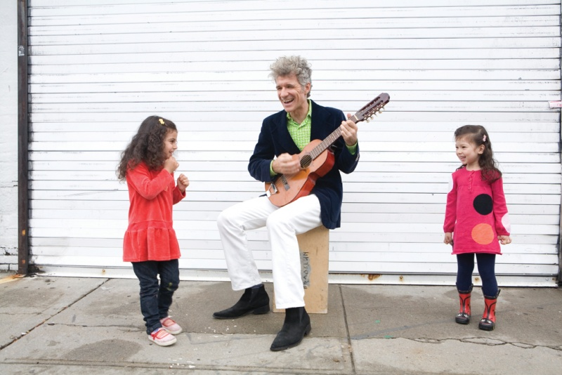 dan zanes playing music for two girls