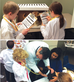 Kids Play Vet for a Day at BluePrint Veterinary Partners