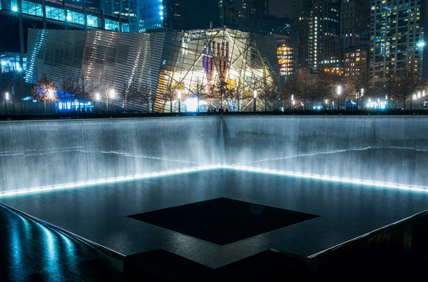 A view of the National September 11 Memorial & Museum.