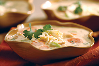 Southwest chicken and rice soup