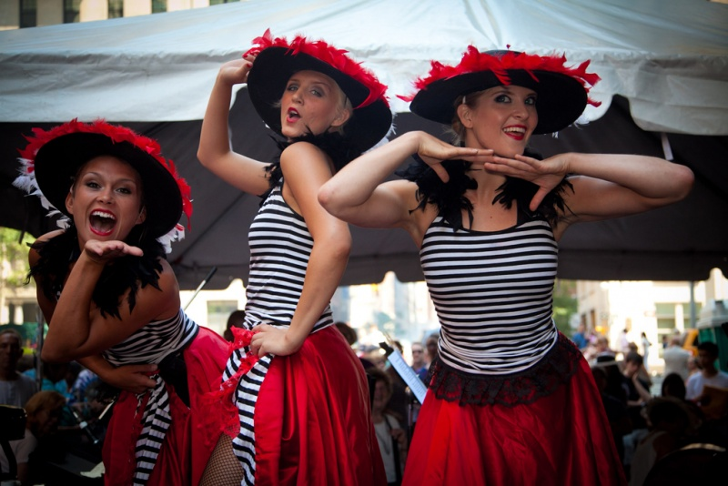 can can dancers at bastille day in manhattan