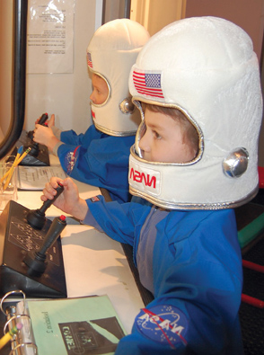 interactive learning space and astronauts -#main