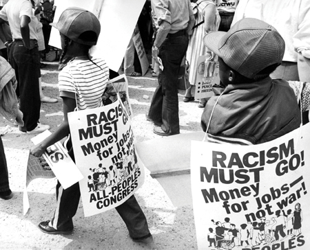 Collette Fournier photo Racism Affects Our Youth, 1983