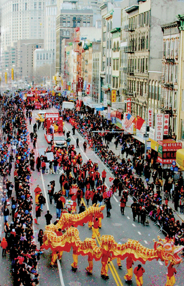 chinese lunar new year parade in nyc