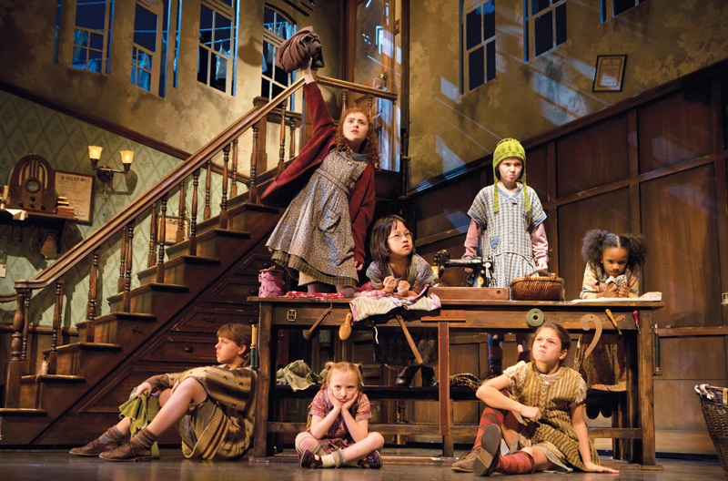 Annie the musical with Lilla Crawford