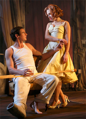 Cat on a Hot Tin Roof's Scarlett Johansson and Benjamin Walker