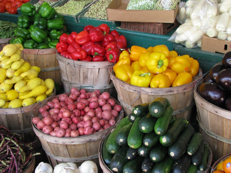 farmers market vegetables