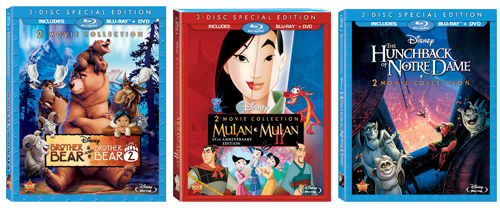 Disney's Brother Bear, Mulan, The Hunchback of Notre Dame
