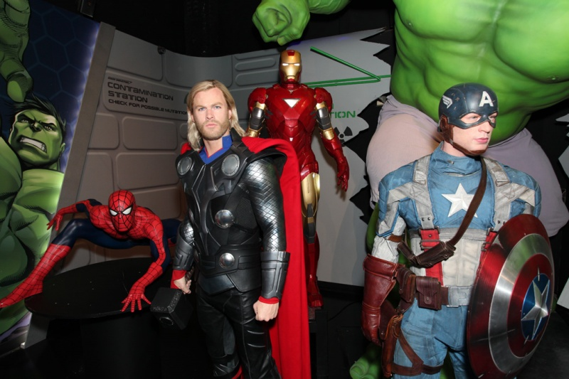 marvel super heroes at madame tussauds