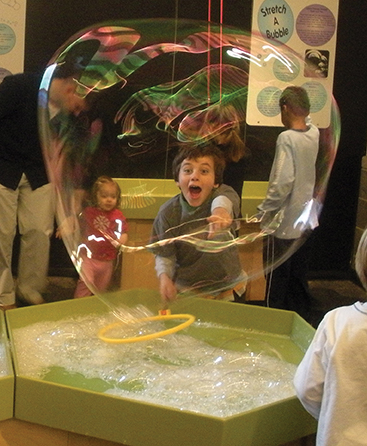 bubbles exhibit long island children's museum