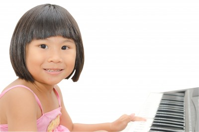 Girl on piano