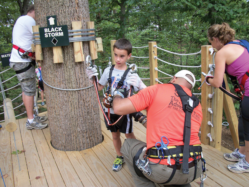zip line and rope tree course in ct