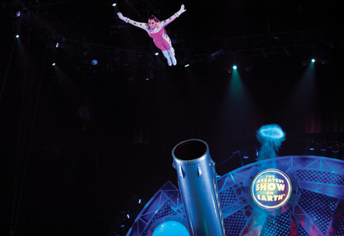 human cannonball Eliana Grace with Ringling Bros. circus