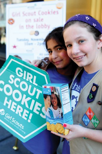 girl scout cookie pop up nyc