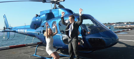 Liberty Helicopter Tours wedding