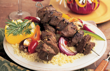 grilled steak skewers