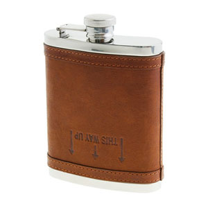 J. Crew's Leather Flask