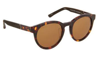 The Row's Leather-Wrapped Round Framed sunglasses