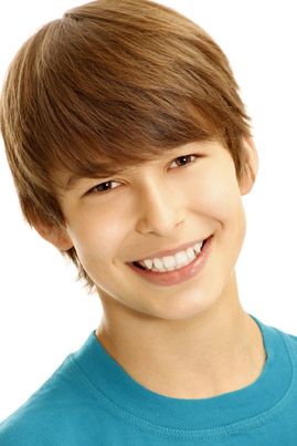 smiling teen boy